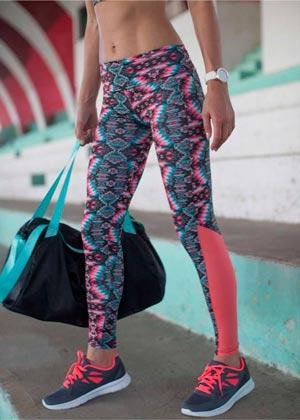 Calças Legging Fitness estampada