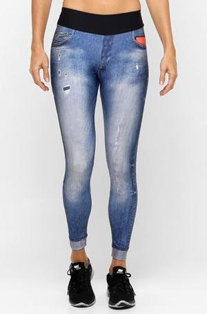 Calças Legging Fitness Jeans