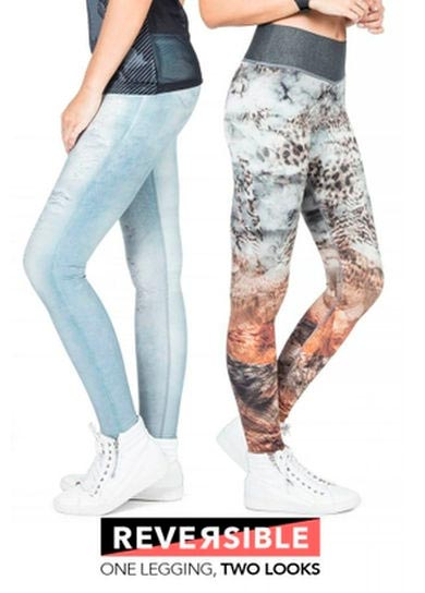 Calças Legging Fitness Reversible Dupla Face