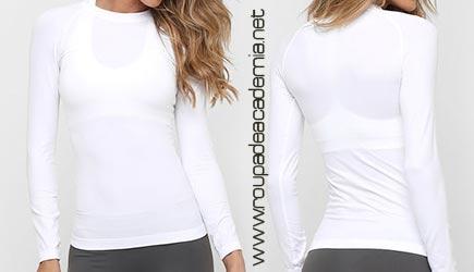 Blusas de Frio Fitness Feminina para Academia 2017