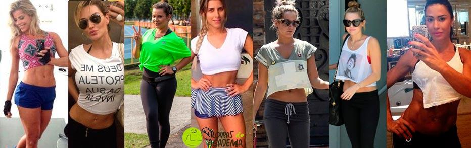 Camisetas Fitness Feminina Cropped 2017